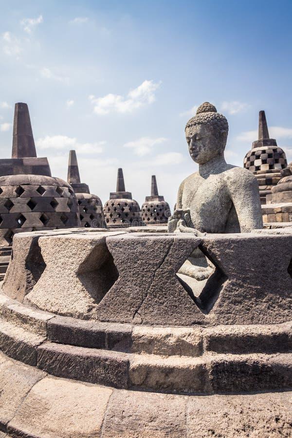 在Java印度尼西亚的婆罗浮屠寺庙 图库摄影