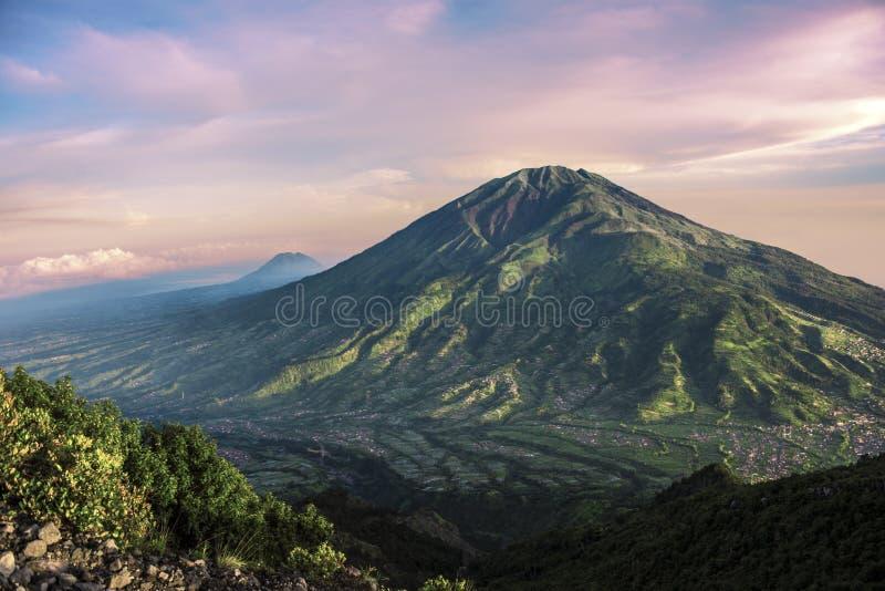 在Java的Merbabu火山 库存照片