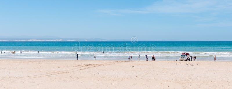 在Jeffreys海湾的海滩场面 库存照片