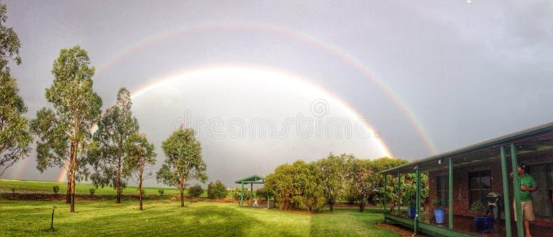 在Jondaryan澳大利亚的彩虹 免版税库存照片