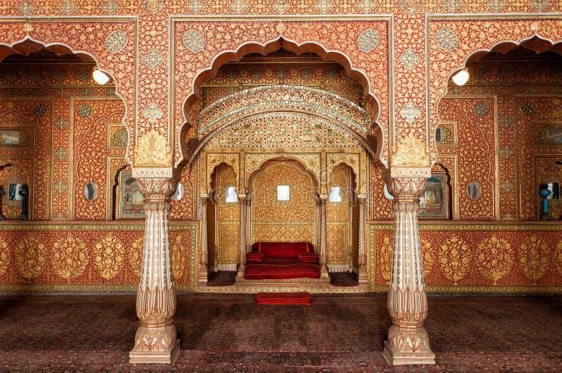 在Junagarh堡垒,比卡内尔,印度的观众霍尔 图库摄影