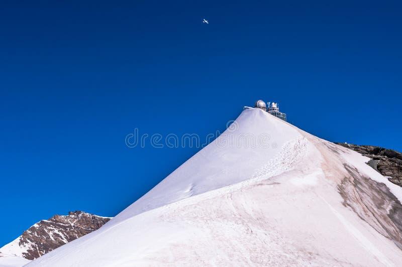在Jungfraujoch的狮身人面象 库存图片
