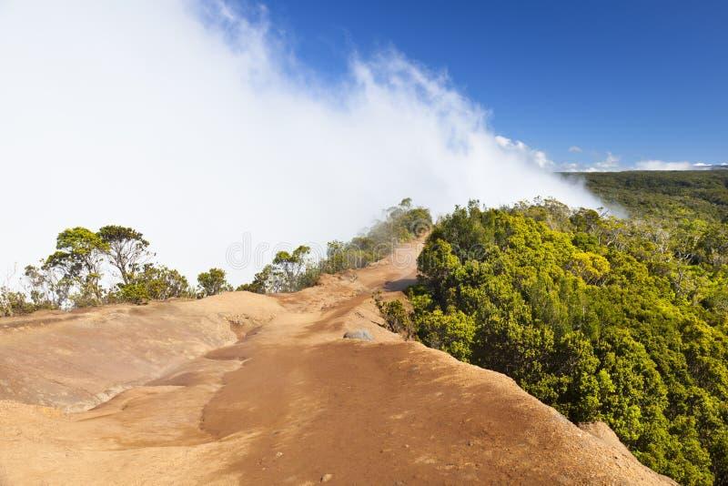 在Kalalau监视,考艾岛的云彩 库存图片