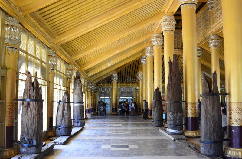 在Kanbawzathadi宫殿里面 Bago 缅甸 库存图片