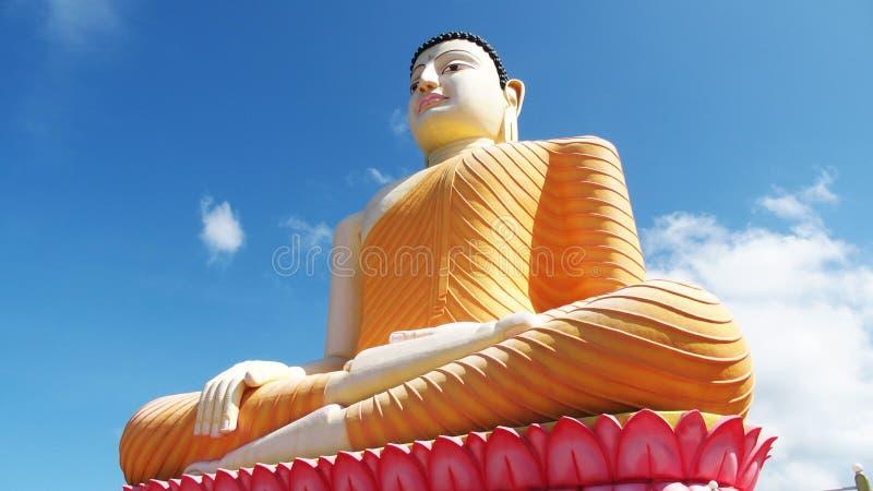 在Kande Vihara的菩萨雕象 免版税库存图片