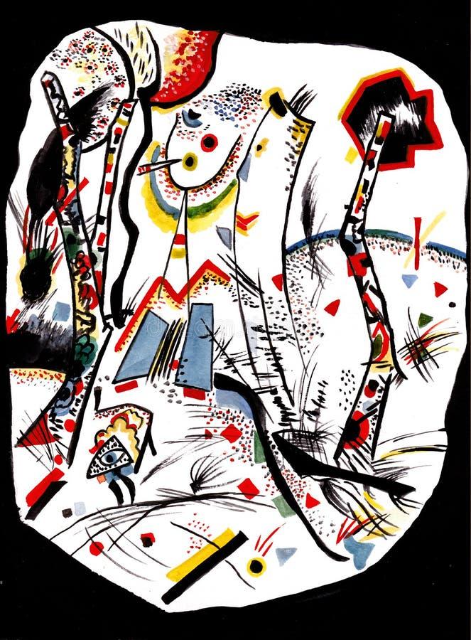 在Kandinsky ` s动机 向量例证