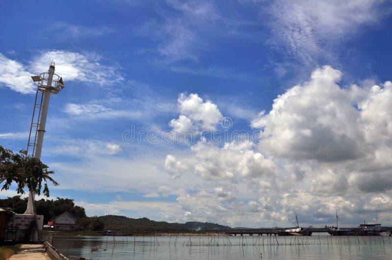 在kangean海岛口岸的塔 免版税库存图片