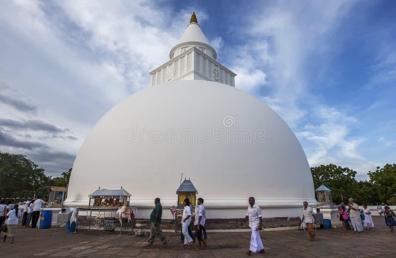 在Kataragama的Kiri Vihara在斯里兰卡 库存照片