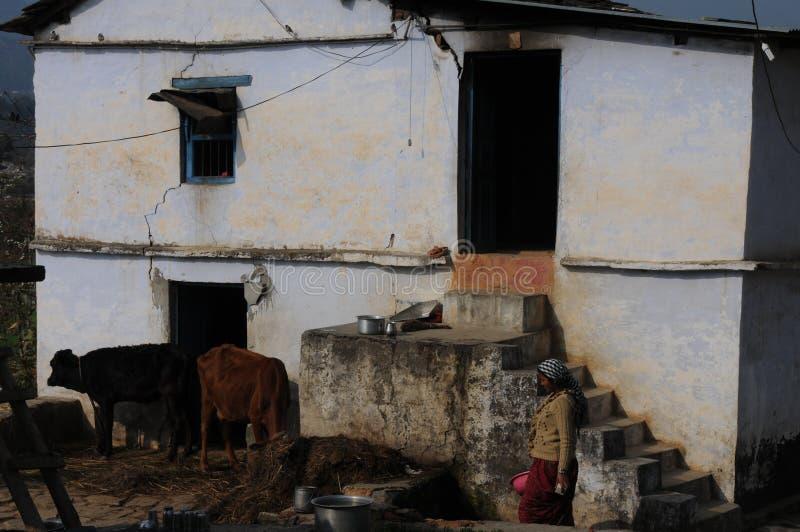 在Kausani,印度的一个小屋 库存照片