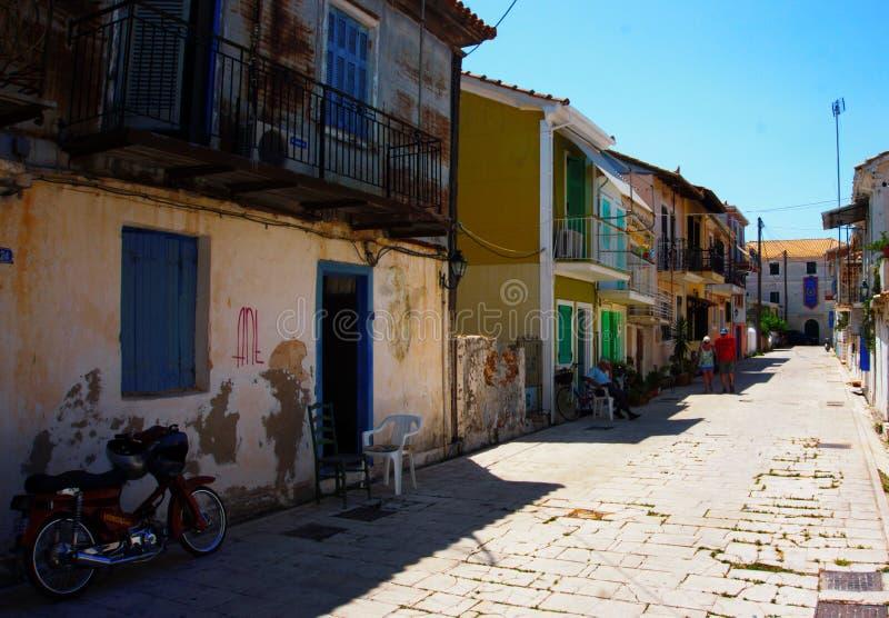 在Kefalonia海岛上的Fiskardo在希腊 免版税库存图片