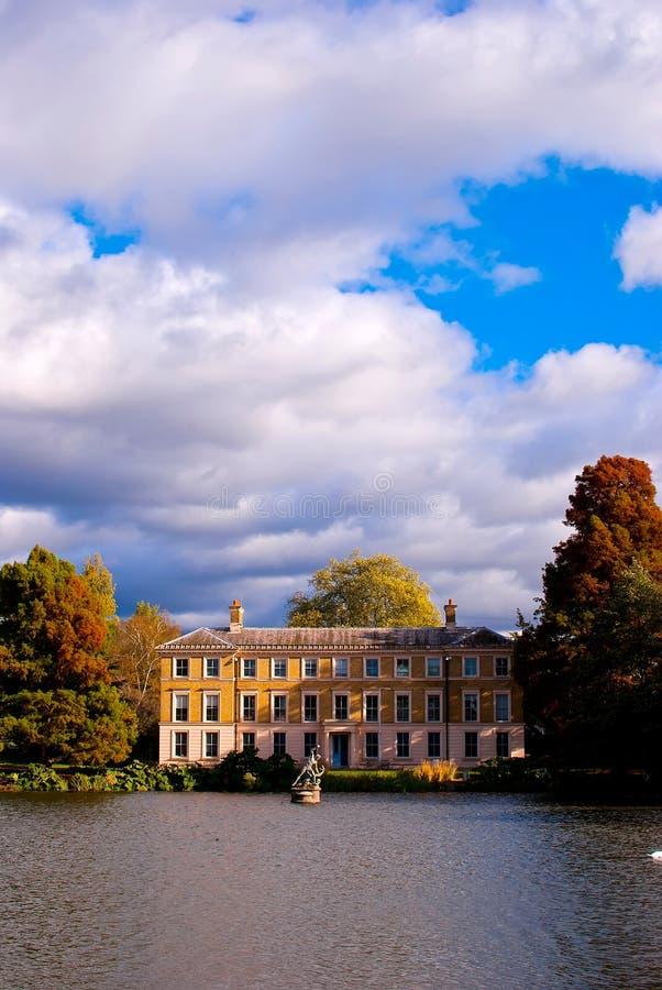 在Kew庭院的秋天 库存照片