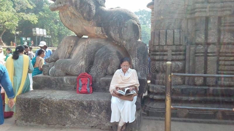 在konarak odissa印度的Anicient著名太阳寺庙 库存照片