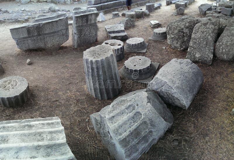 在Kos的Asklepion寺庙 图库摄影