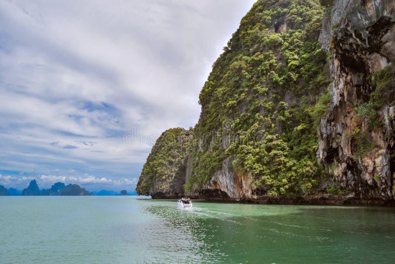 在Krabi泰国的Railay海滩 安达曼,海岛 免版税图库摄影