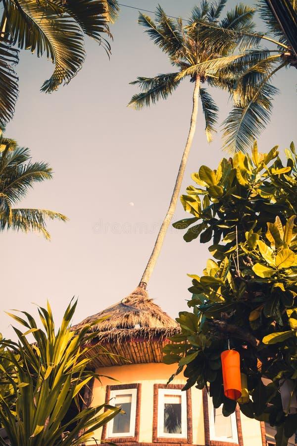 在Krabi的垂悬的五颜六色的庆祝装饰元素, Th 库存照片