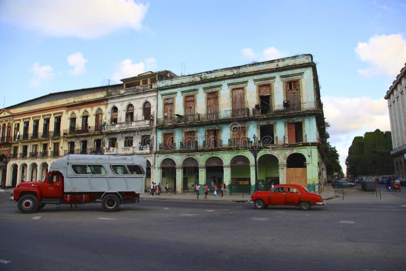在La哈瓦那的老大厦 免版税库存图片