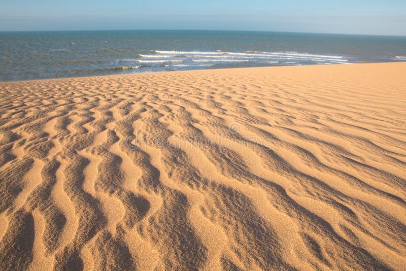 在La瓜希拉省的哥伦比亚的海岸线 免版税库存图片