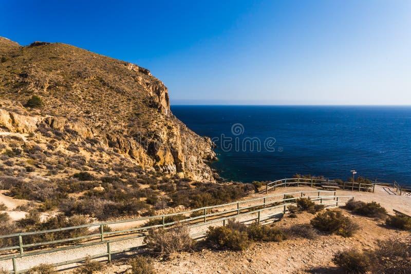董�:$h�ia�`a�+�_在la azohia穆尔西亚的峭壁在地中海,西班牙