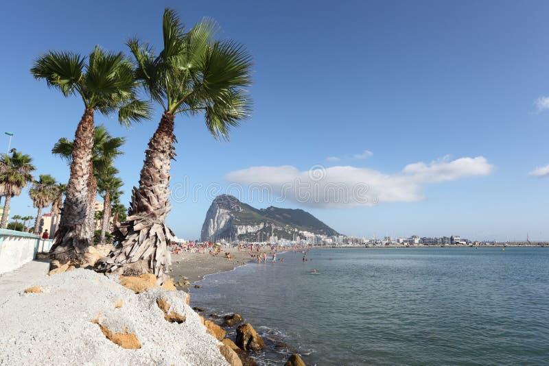 在La Linea,西班牙的海滩 库存照片