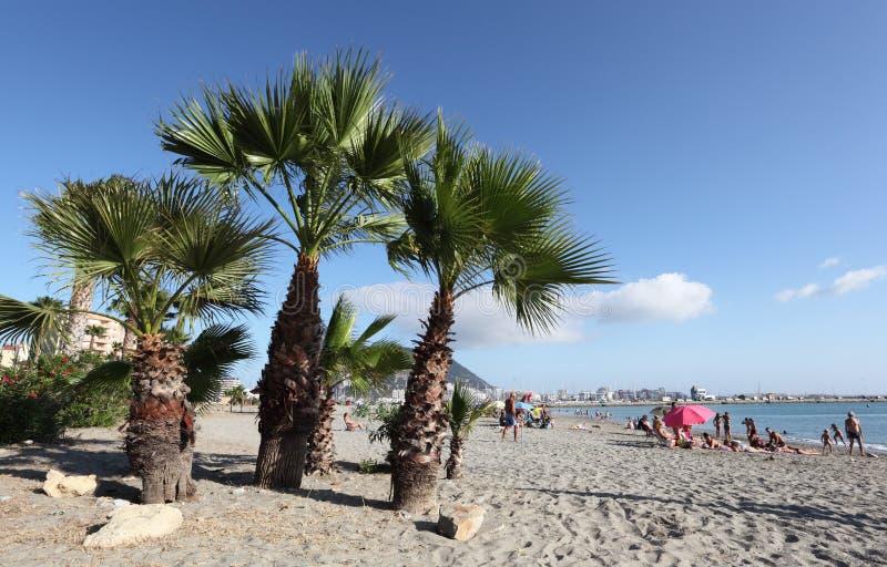 在La Linea,西班牙的海滩 免版税库存图片