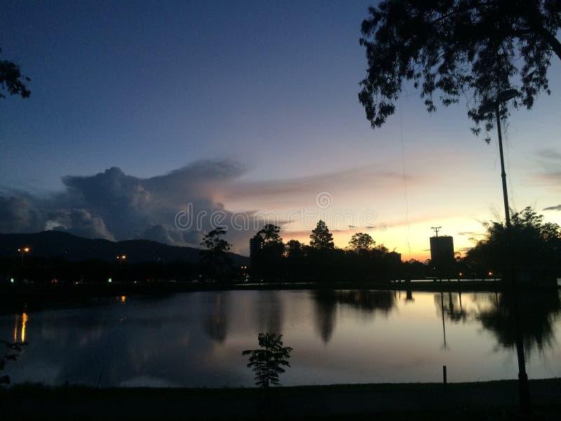 在La Sabana哥斯达黎加的完善的场面 免版税库存图片