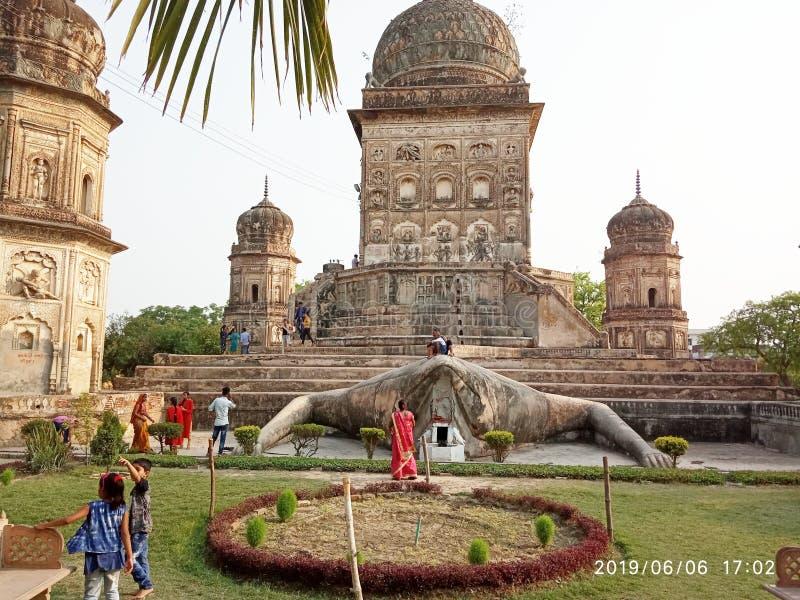 在Lakhimapur kheri的梅达克寺庙 免版税库存照片