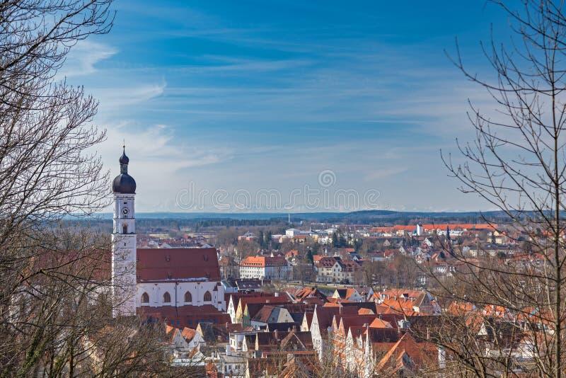 在Landsberg,德国的看法 免版税库存图片
