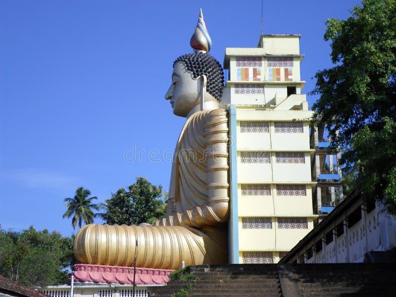 在lanka的菩萨雕象 免版税库存图片