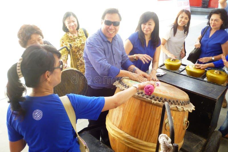 在Lasem唐人街的乐器 库存照片