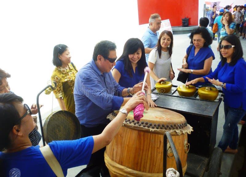 在Lasem唐人街的乐器 免版税图库摄影