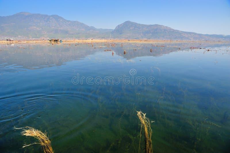 在LaShiHai湖 免版税图库摄影
