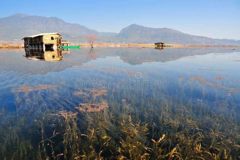 在LaShiHai湖 库存照片
