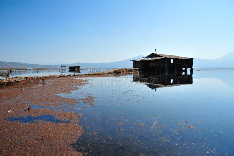 在LaShiHai湖 免版税库存照片