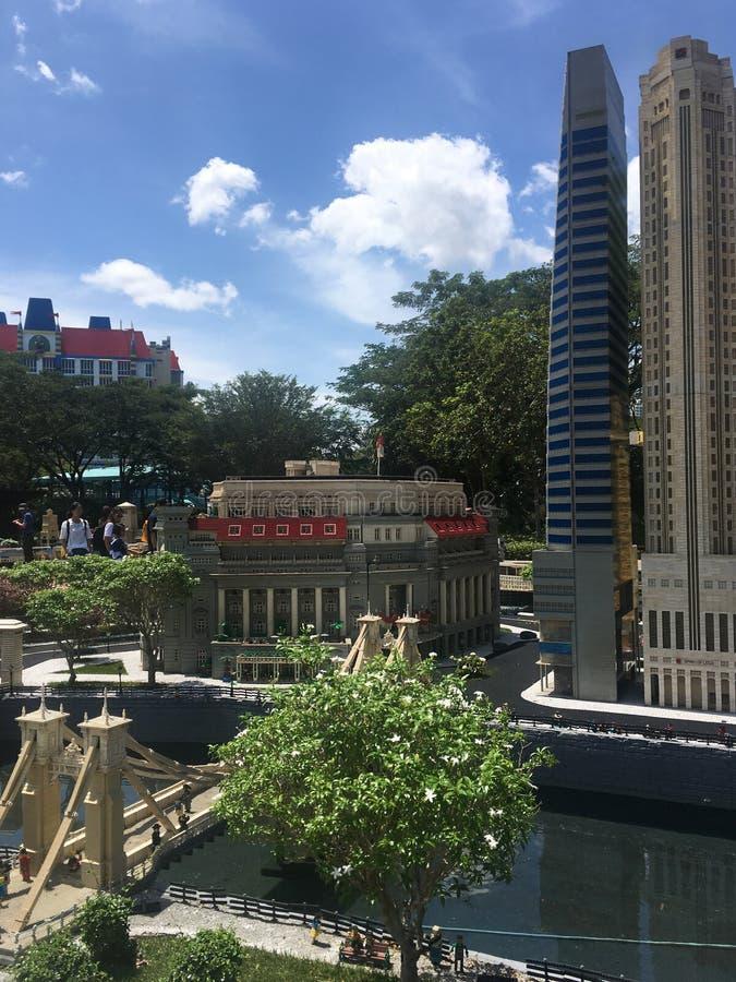 在Legoland马来西亚的乐高缩样 免版税库存图片