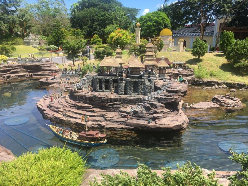 在Legoland马来西亚的乐高缩样 库存图片
