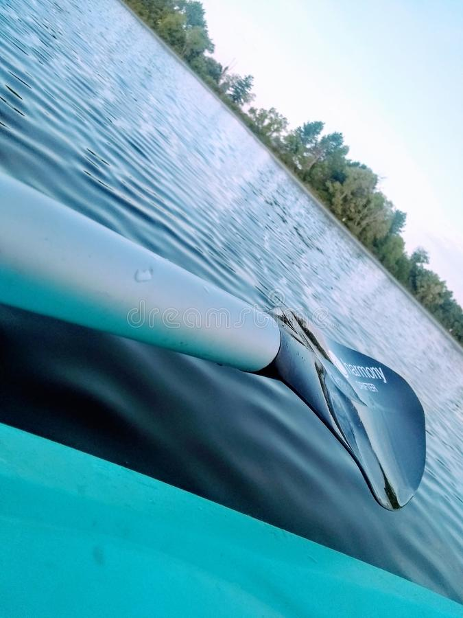 在Leidy湖的早晨疗法 库存图片