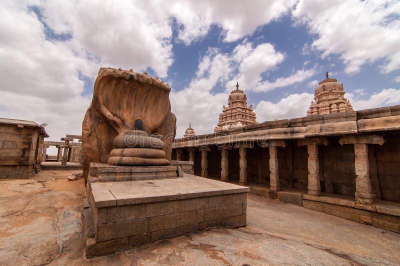 在Lepakshi的Veerabhadra斯瓦米寺庙 免版税库存照片