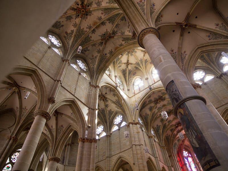 在Liebfrauen教会里面的曲拱实验者的,德国 图库摄影