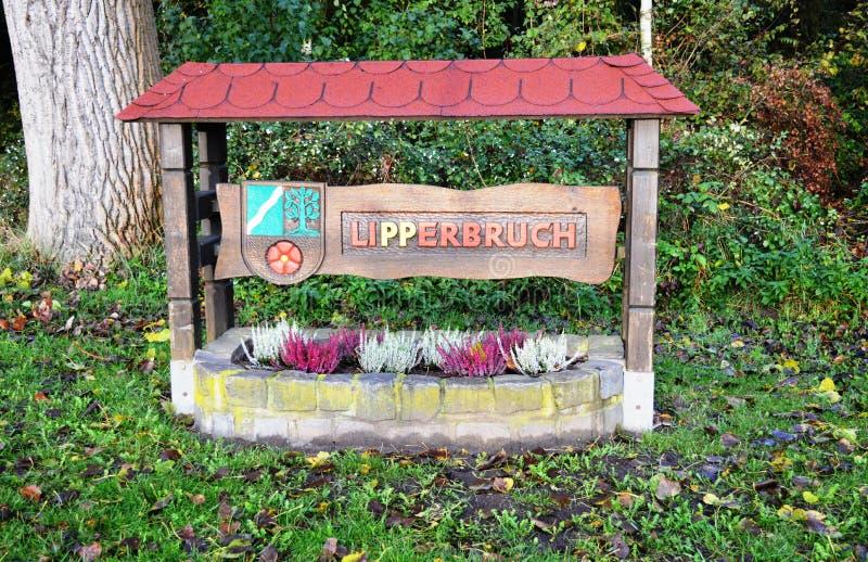 在Lipperbruch的镇词条 免版税库存图片