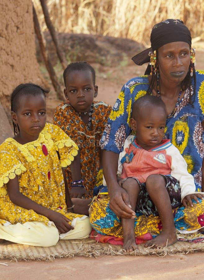 Fulani家庭 免版税库存照片
