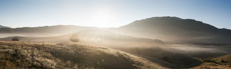 在Lovcen的清早风景 免版税库存照片