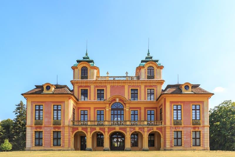 在ludwigsburg的喜爱的城堡 免版税图库摄影