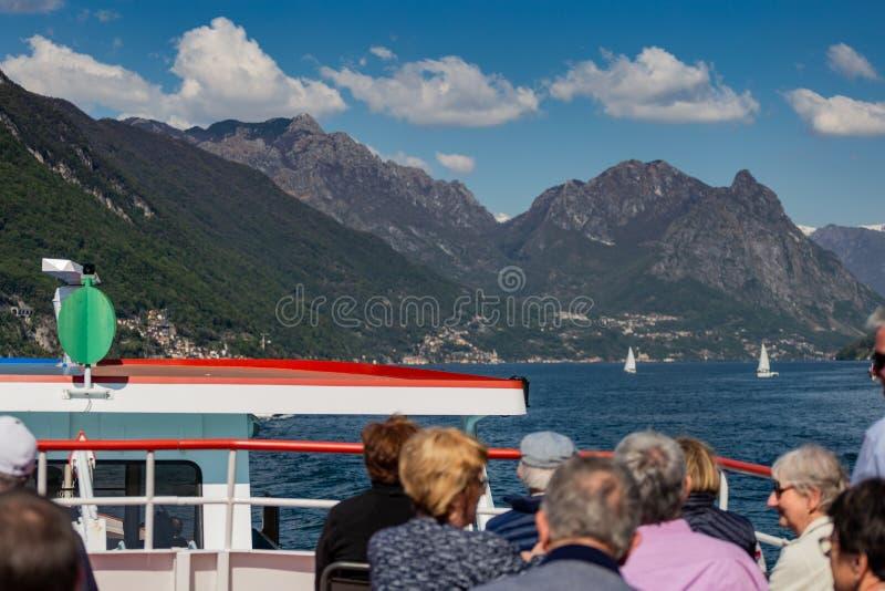 在Lugano湖的巡航 免版税库存照片