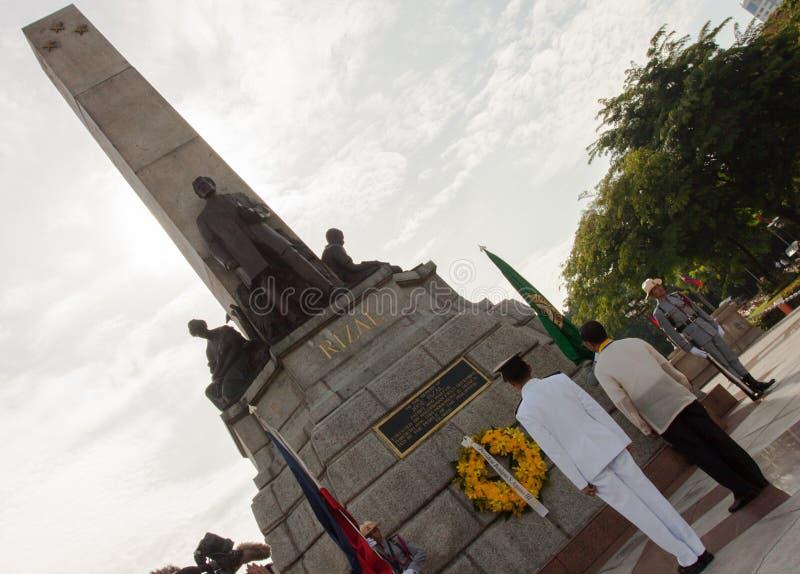 在Luneta公园举行的菲律宾独立日,马尼拉 免版税库存图片