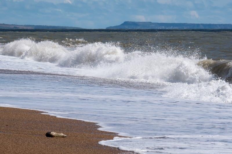在lyme Regis的海岸线 库存图片