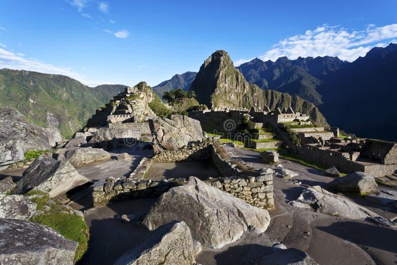 在Machu Picchu -秘鲁的日出 免版税库存图片