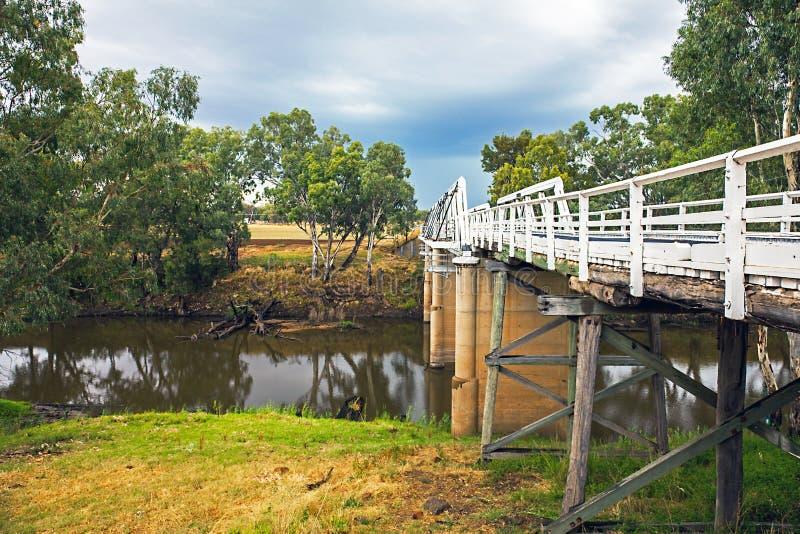 在Macquarie河的Rawsonville桥梁在Dubbo附近 库存图片