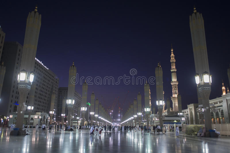 在MADINAH的AL NABAWI 免版税库存照片