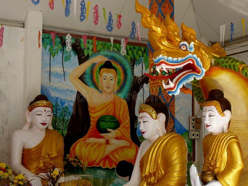 在Mae Sariang,泰国的Wat 库存图片