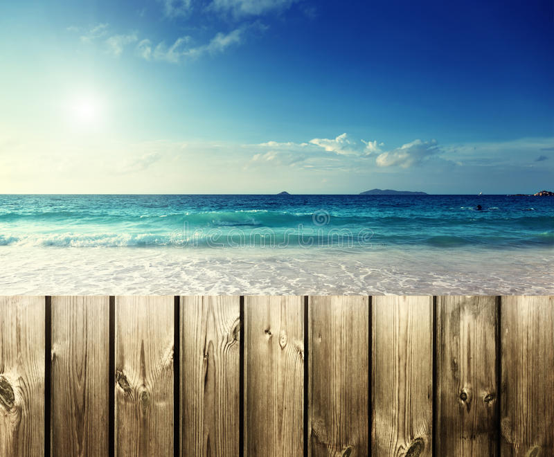 在Mahe海岛的海滩 免版税图库摄影